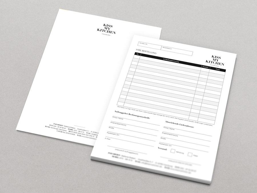 Briefbogen & Bestellblock